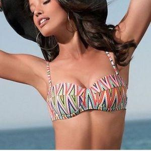 L *Space Torino chevron underwire bikini top